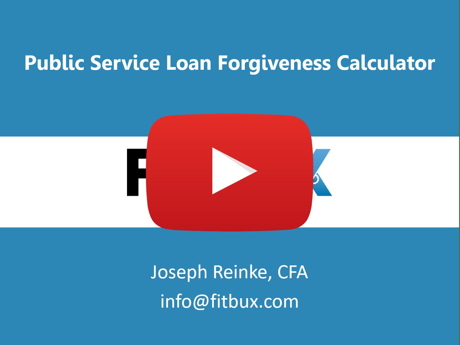 Public service loan frogiveness calculator video