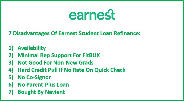 7 Disdavantages Of Earnest Student Loan Refinance